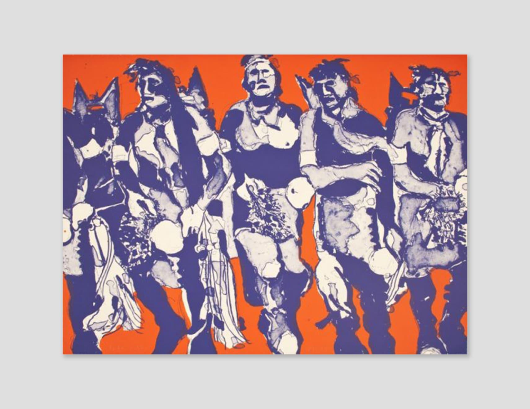 Fritz Scholder, Hopi Dancers (State I), 1974