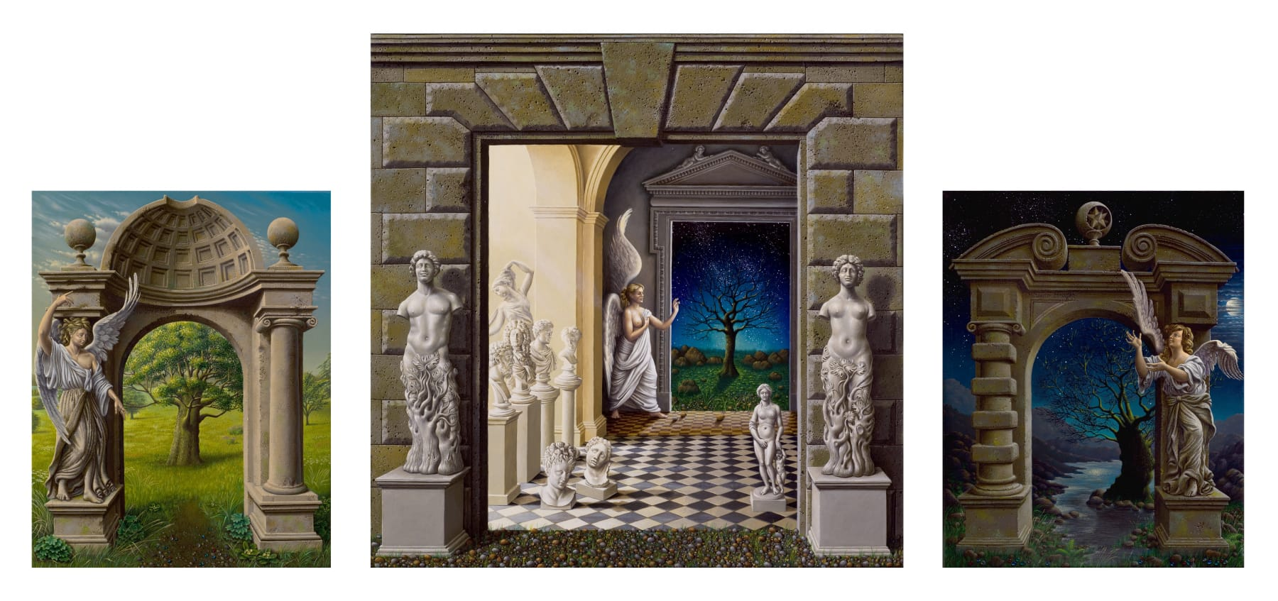Miriam Escofet, The Portals (Triptych), 2007