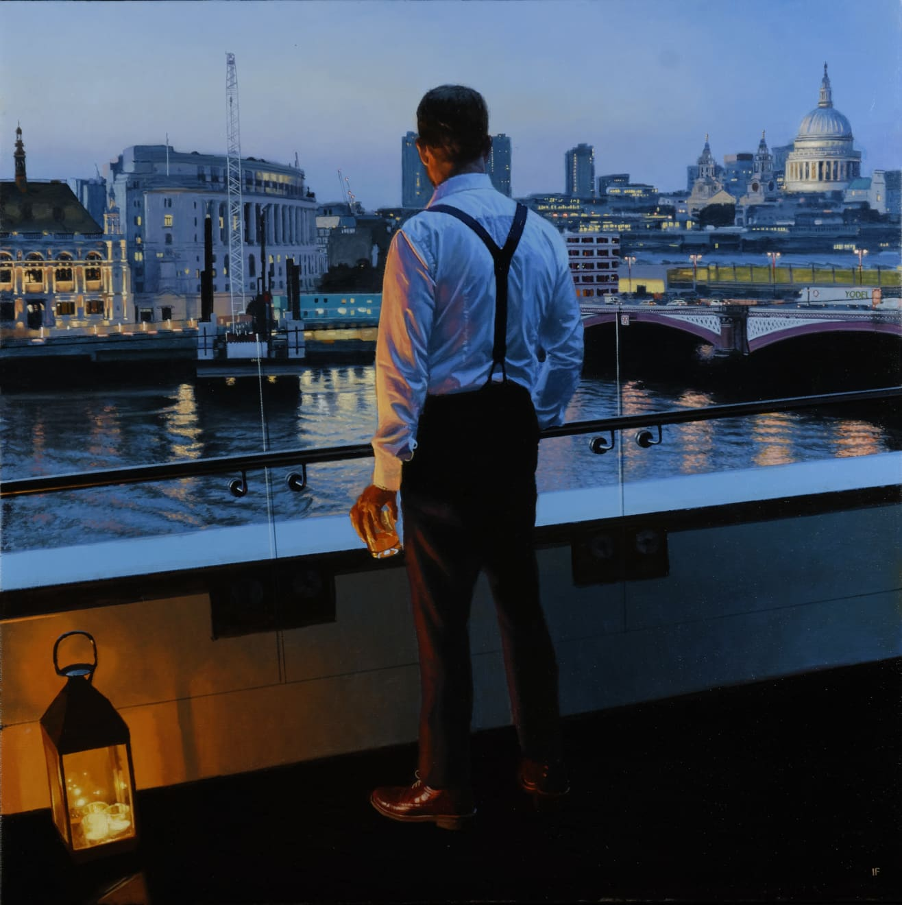 Iain Faulkner, Evening, Blackfriars Bridge, 2018