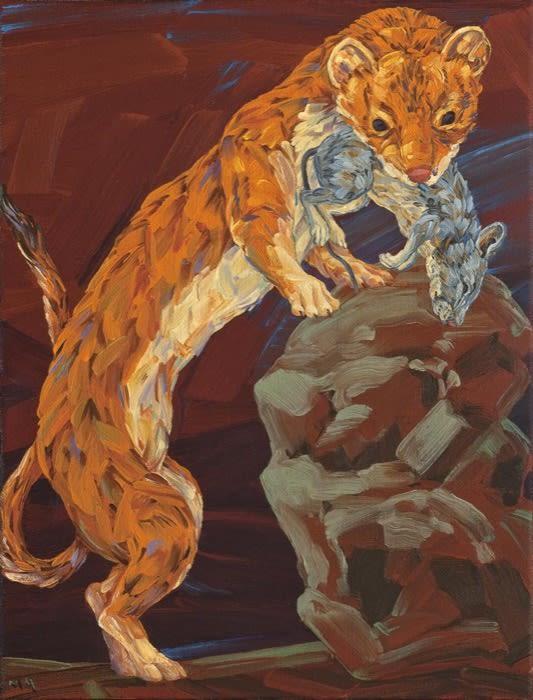 Melissa Miller, Little Death, Weasel, 2013 oil on canvas, 12 x 9 in