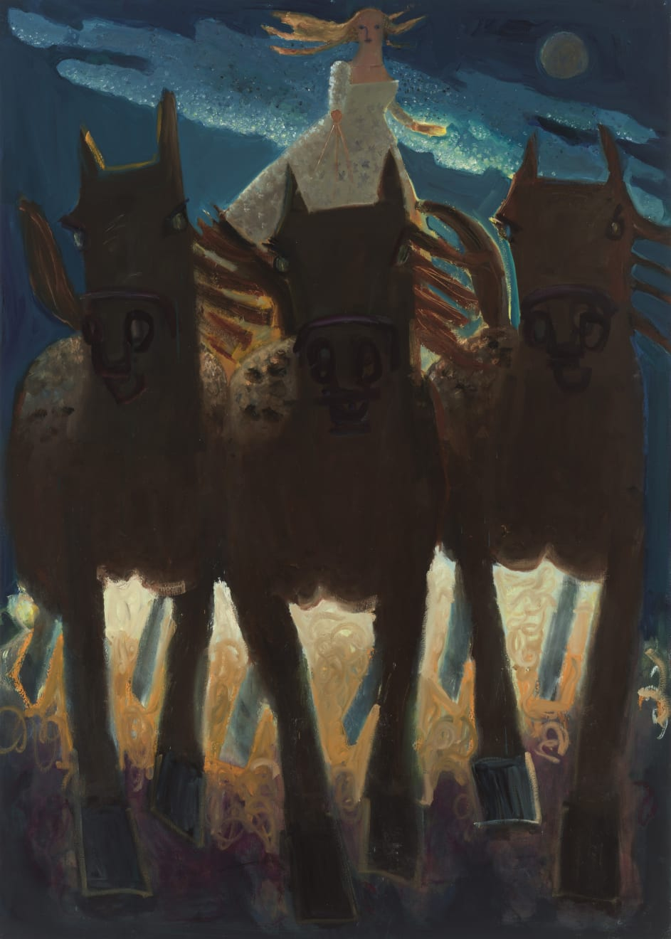 Kyle Staver, Dawn's Ride, 2020 Oil on Canvas, 70 x 50 in