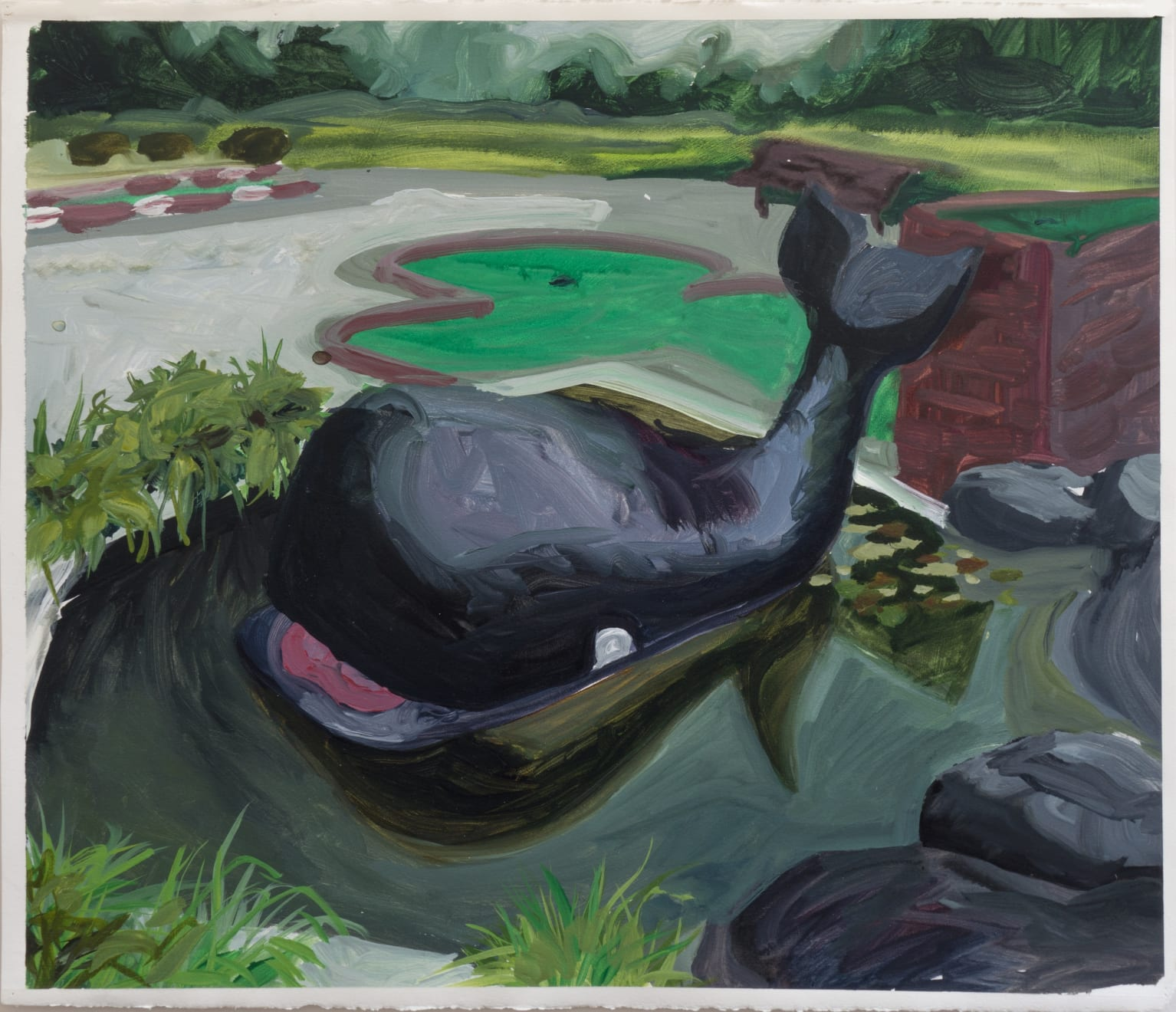 Kristin Musgnug, Little Whale, 2000 acrylic on paper, 22 x 25 in