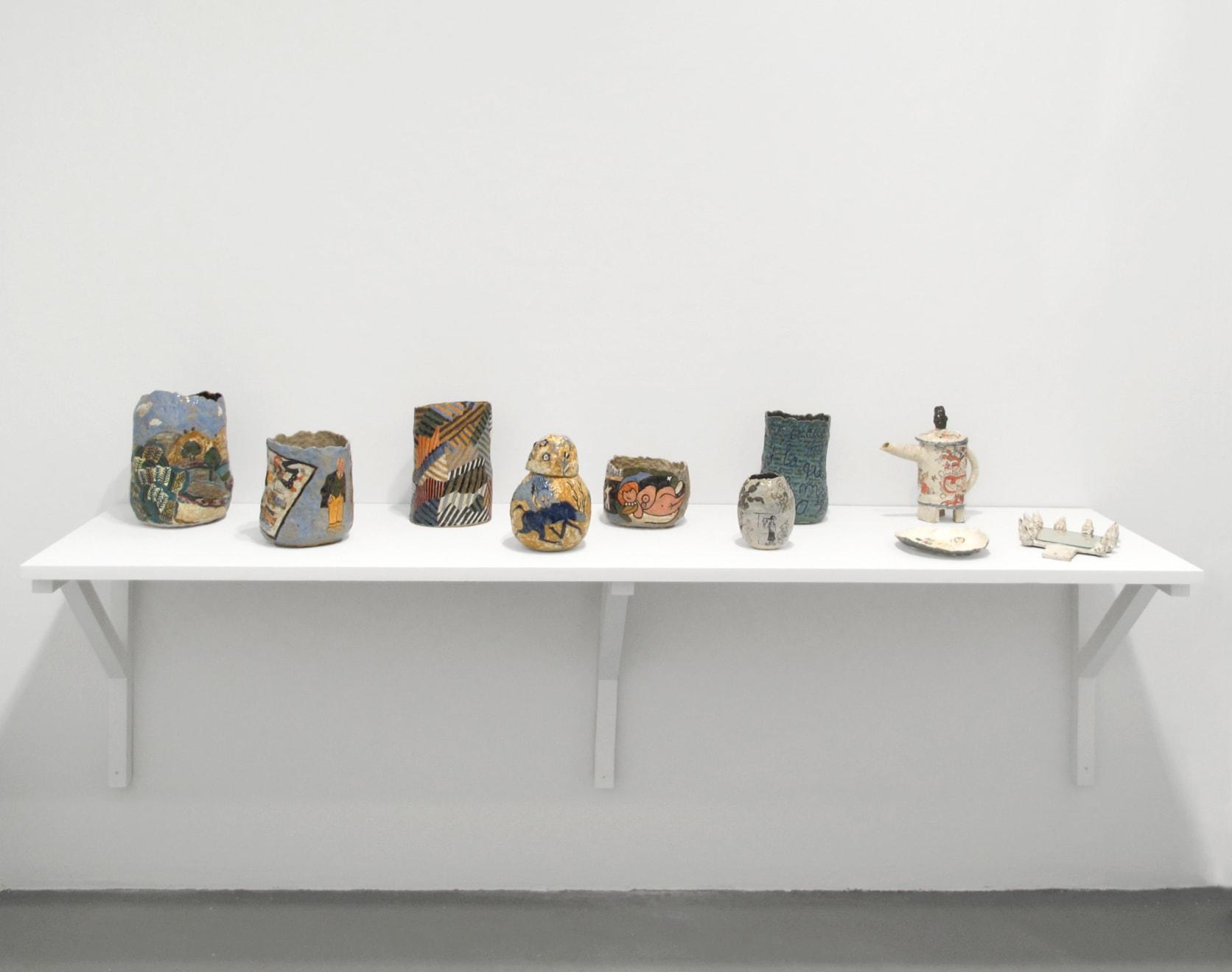installation view, white columns, new york, 2014
