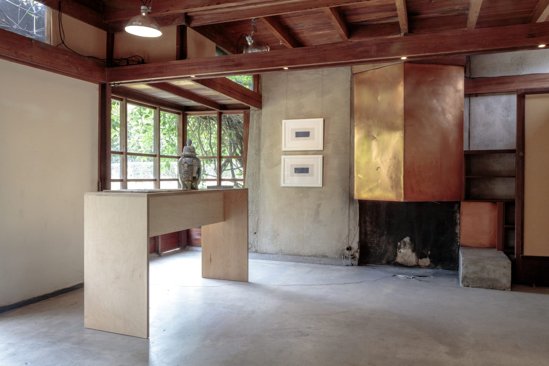 installation view, schindler house, mak center, los angeles, 2016