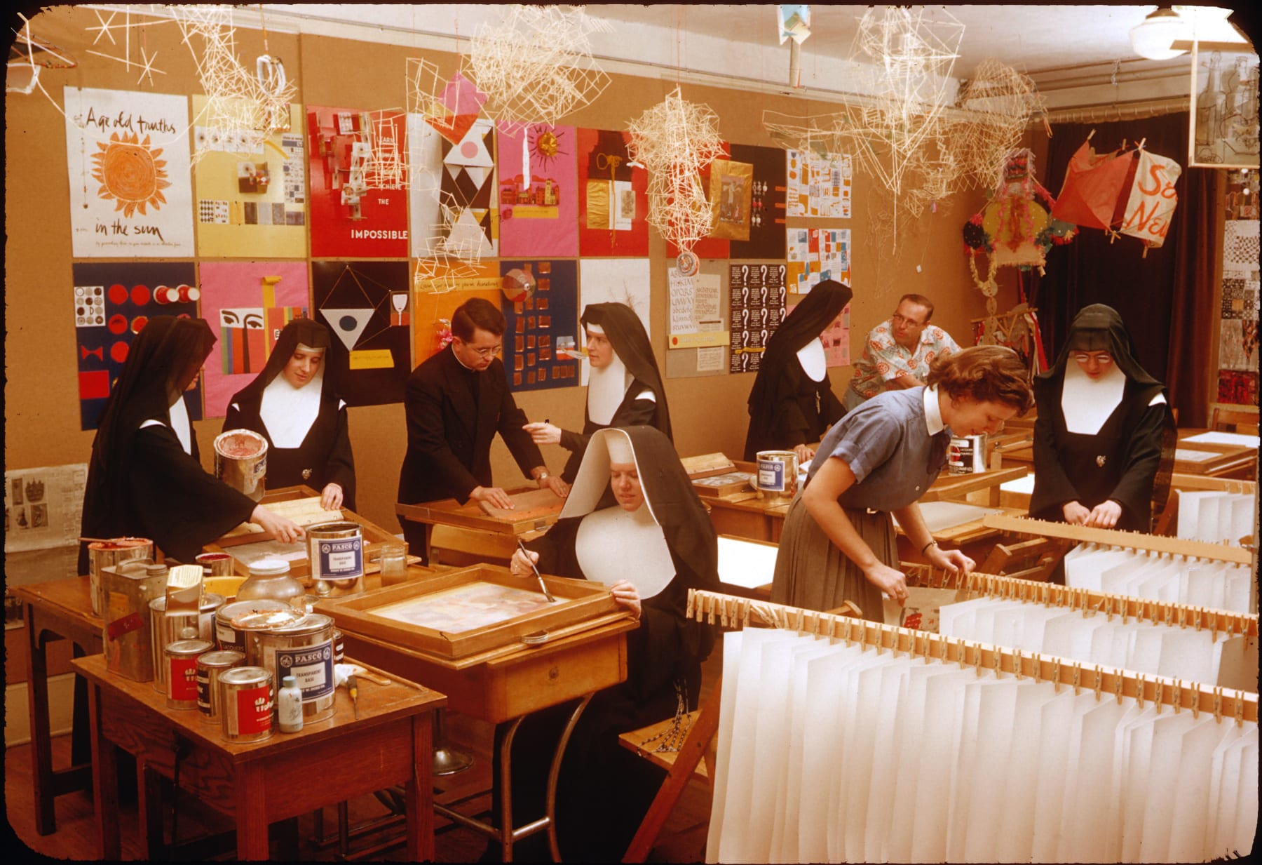 Immaculate Heart College Art Department, c. 1955. Photograph by Fred Swartz.