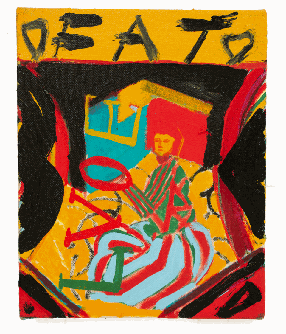 Ed Burkes Fat For Love Oil on Canvas Original 20 x 25 cm $1300 £650