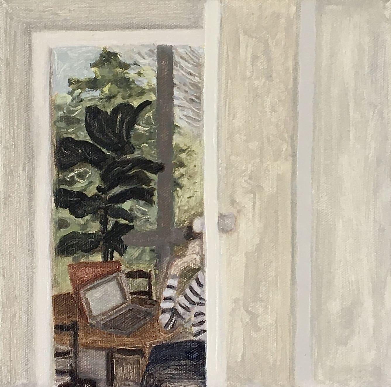 Elynor Smithwick Doorway Oil on Canvas Original 20 x 20 cm $750 £375 SOLD