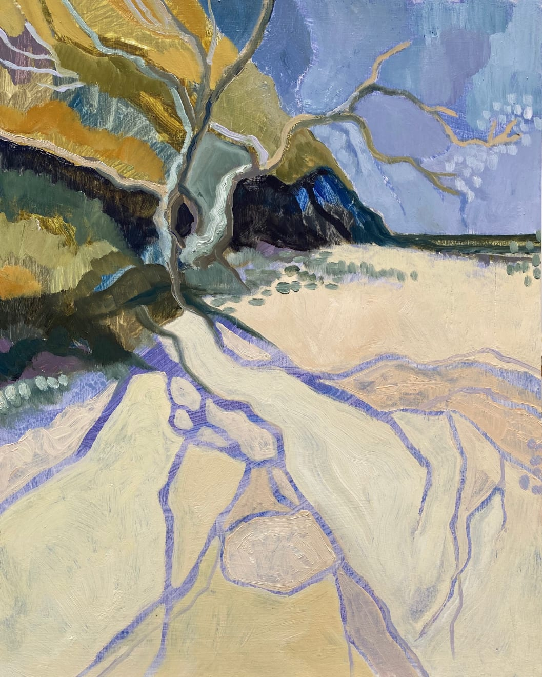 Meg Walters Midday Silhouette Oil on Board Original 43 x 53 cm Oak Frame $1900 £800 SOLD