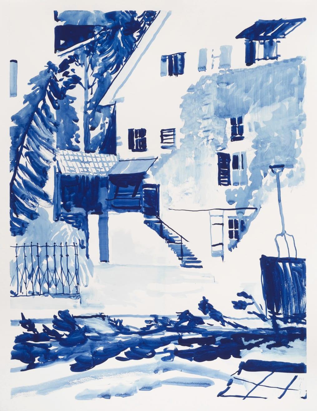 Michael Taylor The Gardener's Revenge Gouache on Paper Original 65 x 50 cm $3000 £1500