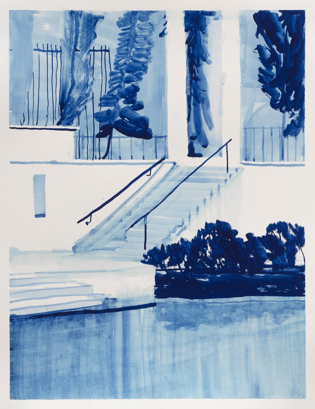Michael Taylor The Pastel Ghost Gouache on Paper Original 65 x 50 cm $3000 £1500 SOLD