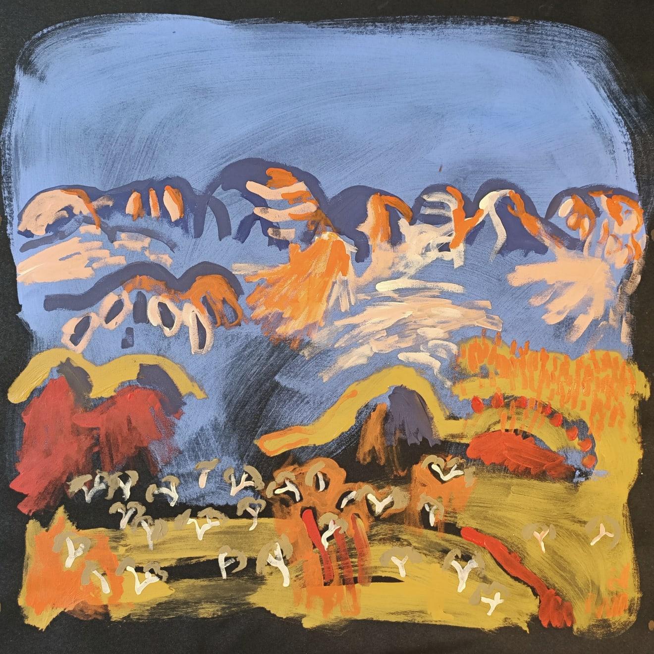 Zak Tilley Blue Bluffs at Papunya Acrylic on Canvas Original 60 x 60 cm $800 £400 SOLD