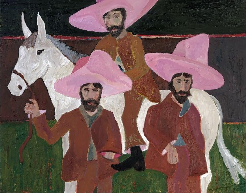 Ben Crase Come Through Columbia Gardens Oil and Oil Stick on Canvas Original 35 x 28 cm $1300 £650 SOLD