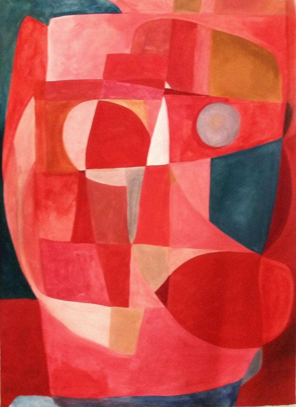 Celui Qui La Regarde En Rouge Caséine and Arabic Gum on Paper Original 78 x 106 cm $4390 SOLD
