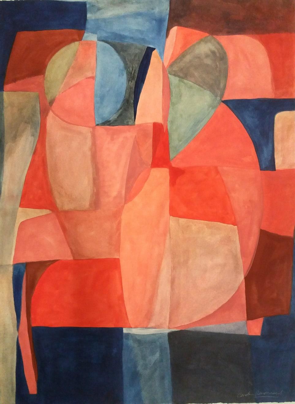 L'espace Caséine and Arabic Gum on Paper Original 78 x 106 cm $4390 SOLD
