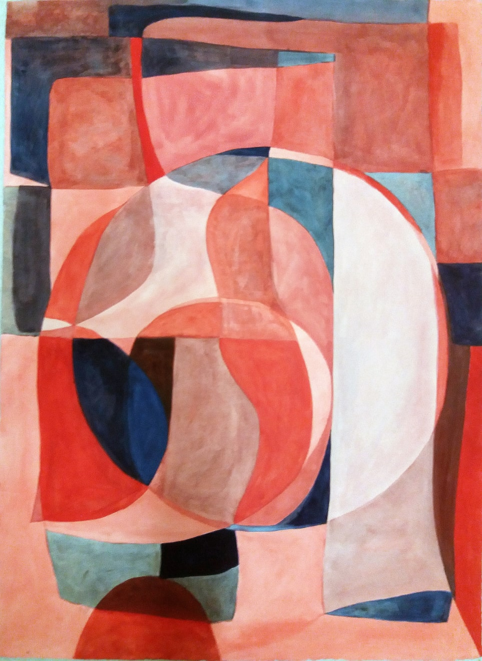 Ronde En Rose Et Bleu Caséine and Arabic Gum on Paper Original 78 x 106 cm $4390 SOLD