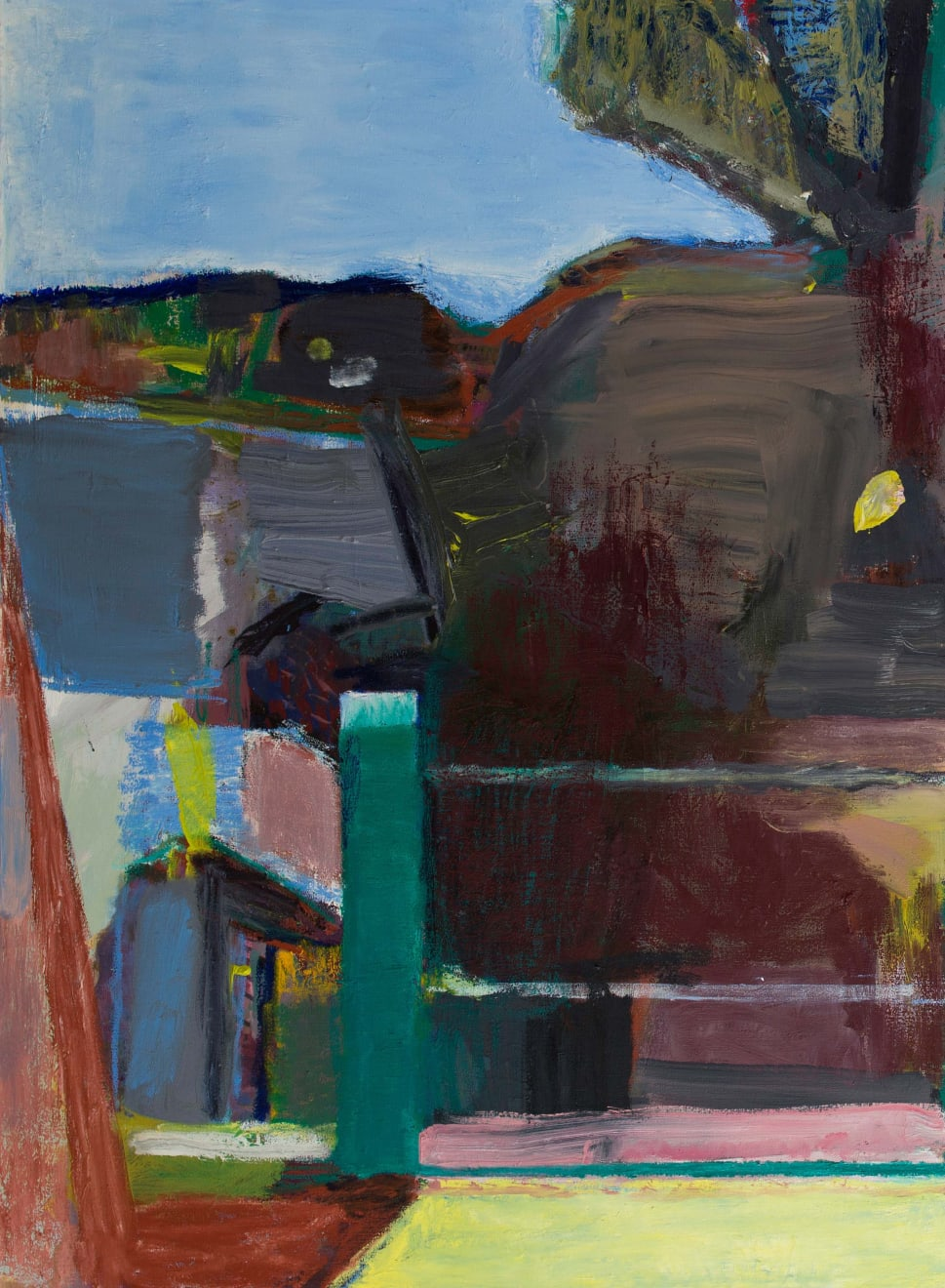 Pavilion Oil Paint and Oil Crayon on Canvas Original 90 x 120 cm $9 300 £4 710 SOLD