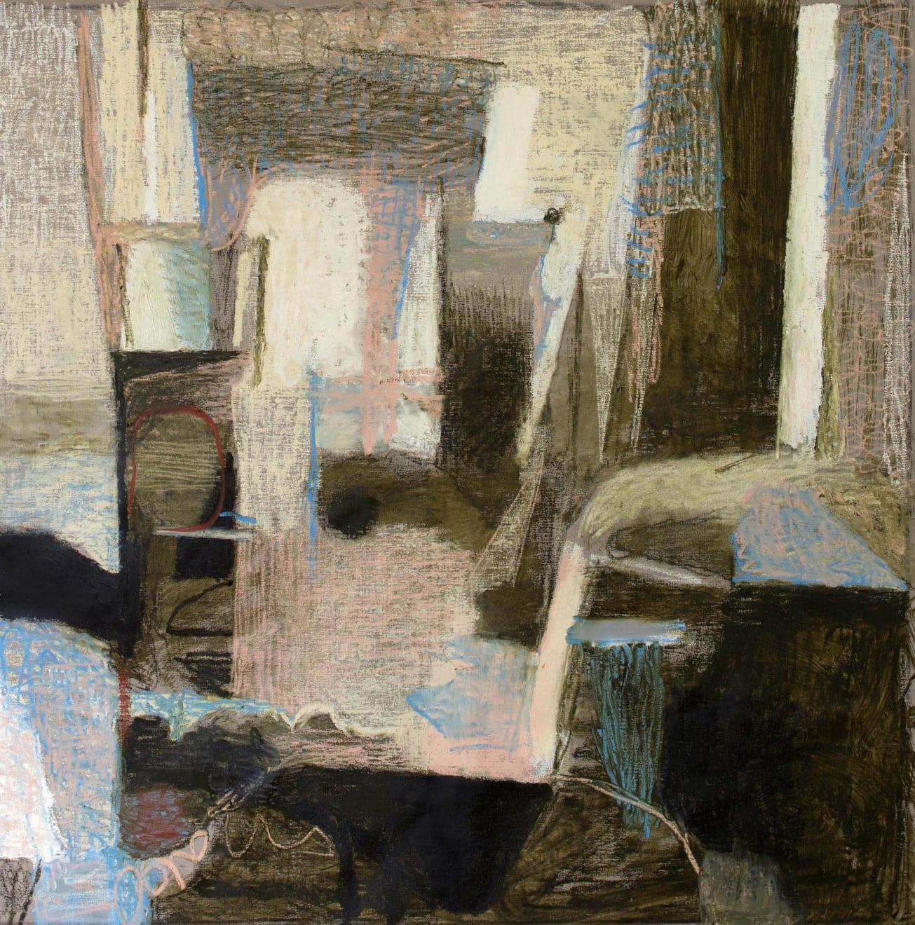 Klein Breekwerk Oil Paint and Oil Crayon on Canvas Original 125 x 125cm $10 500 £5 320