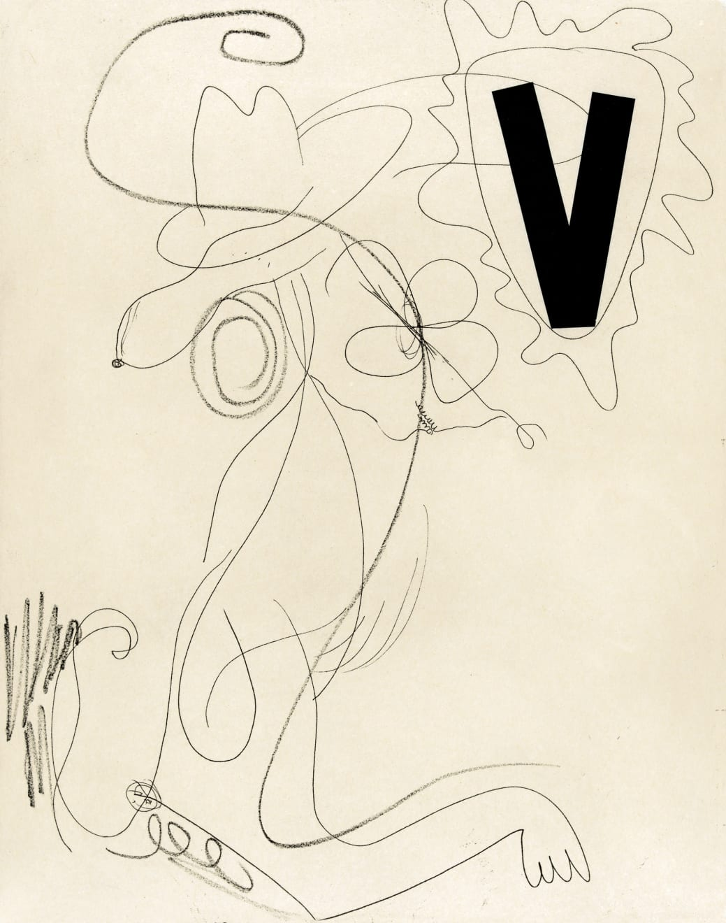 Charline von Heyl, Snoopy (Black V), 2014