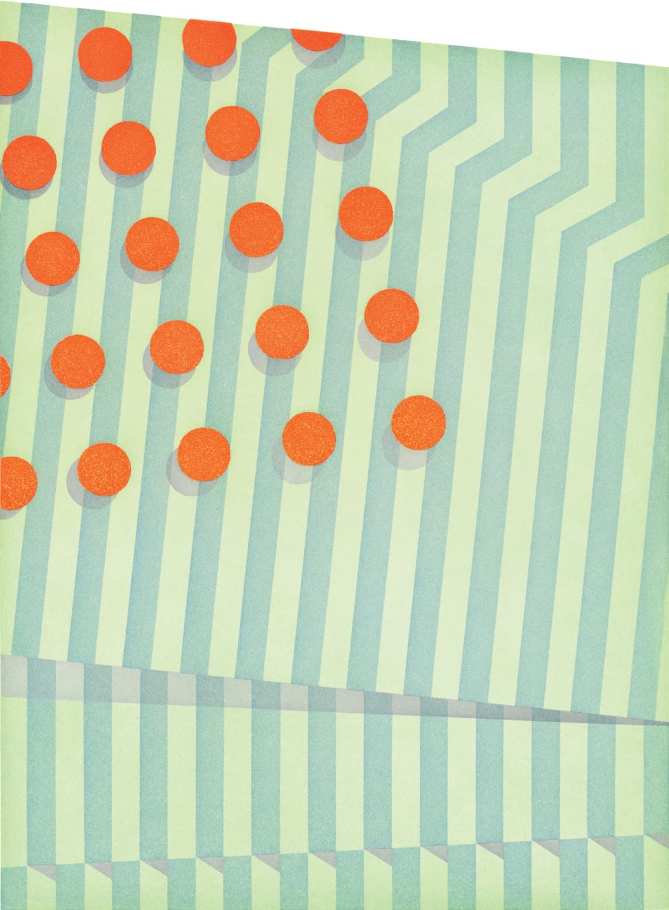 Tomma Abts, Untitled (small circles), 2015