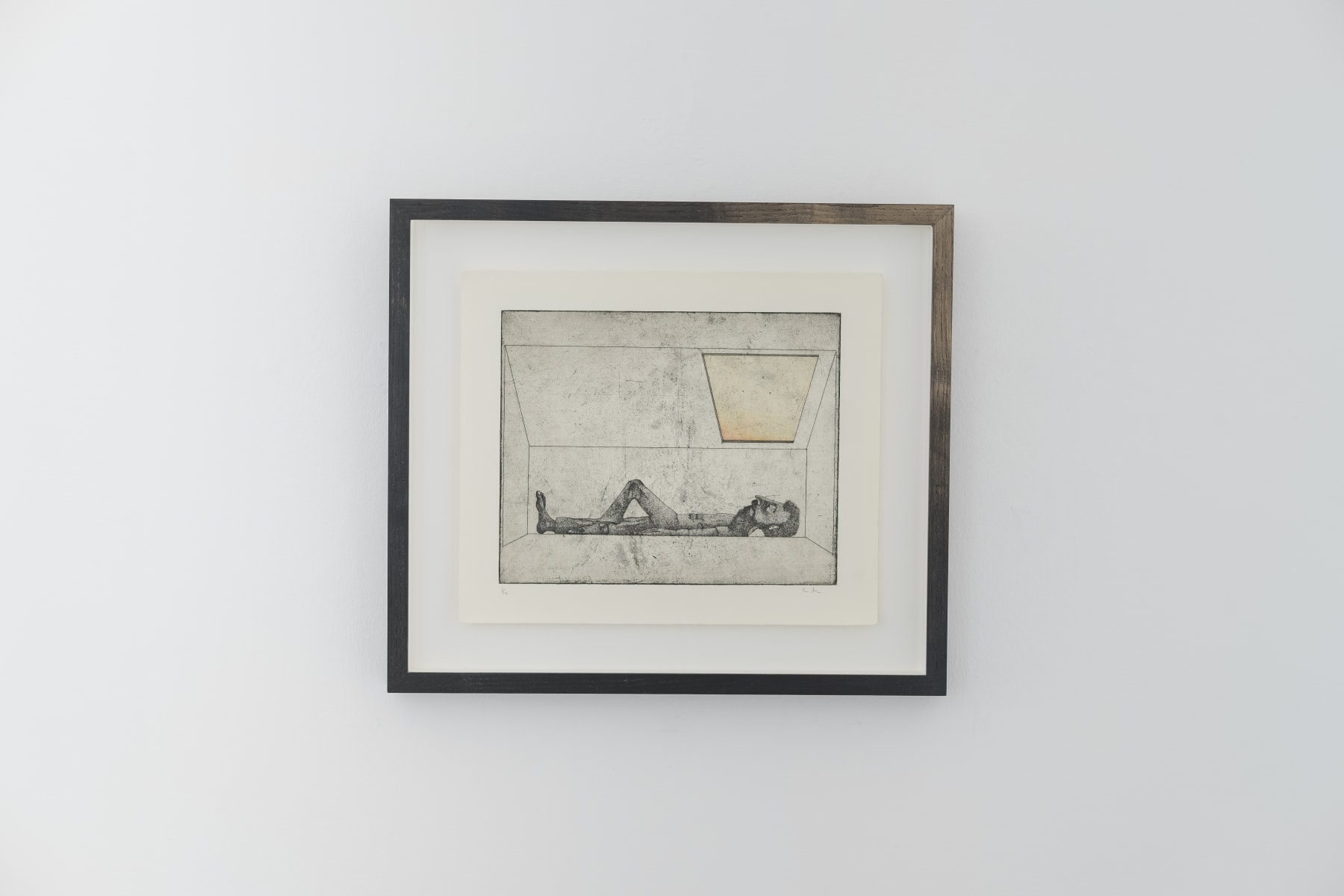 Thomas Adam, Dusk at Bonnybridge Etching, 2018 Photo: John Sinclair