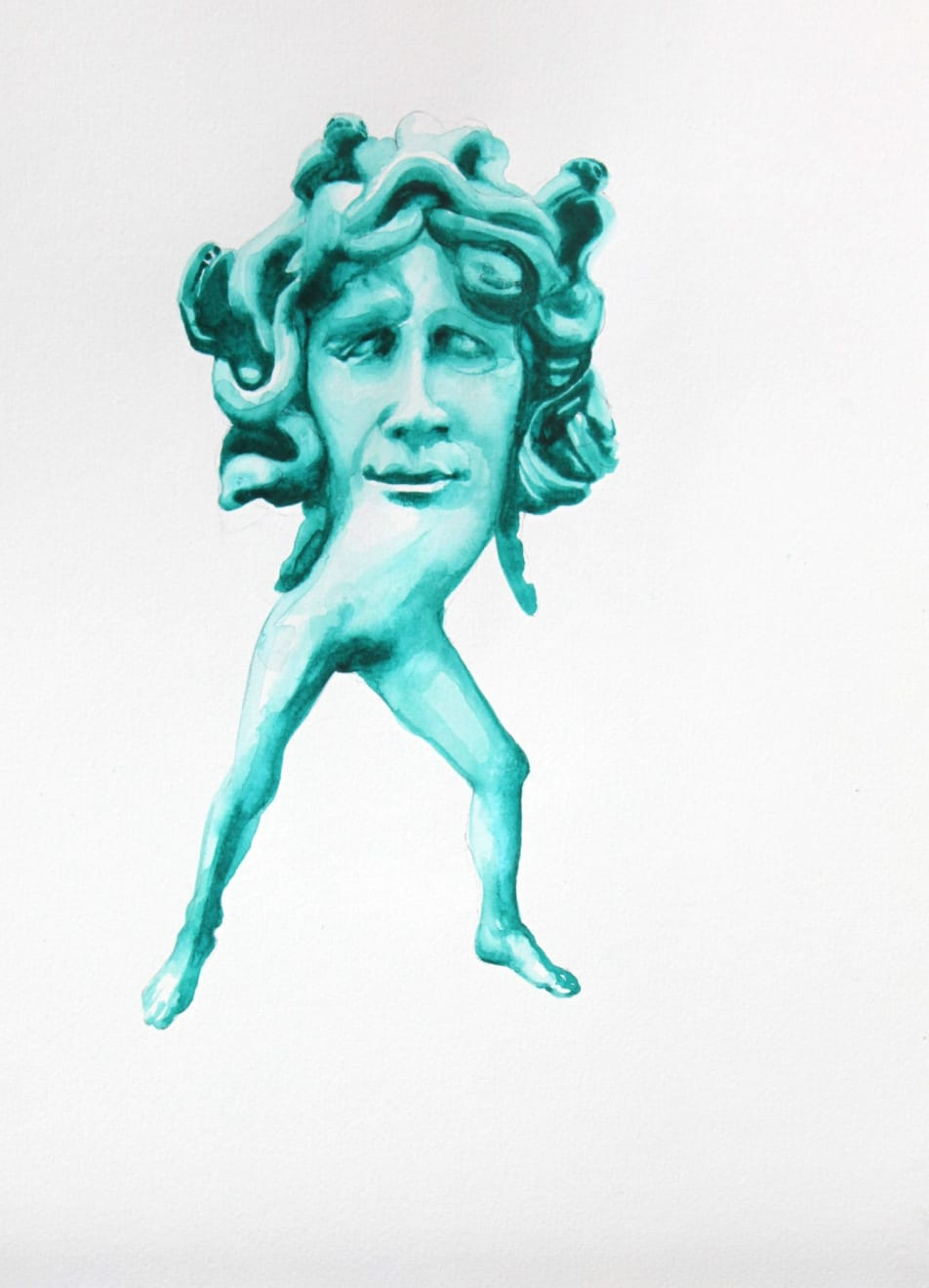 Kirsty Whiten, Mother Medusa, 2019, Watercolour, 35 x 25 cm