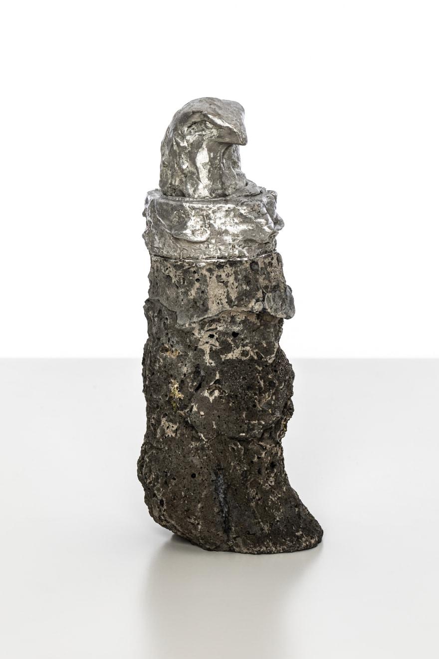 Chantal Powell, Alchemy Eagle II, 2019 Tin, concrete, pigment 19 x 8 x 8.5cm