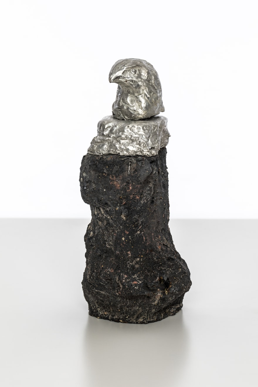 Chantal Powell, Alchemy Eagle I, 2019 Tin, concrete, pigment 19 x 8 x 8.5cm