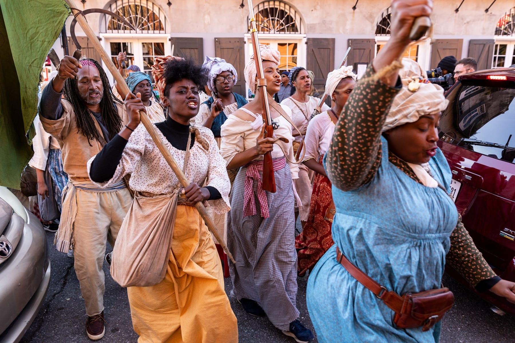 Dread Scott, Slave Rebellion Reenactment Performance Still 5, 2019