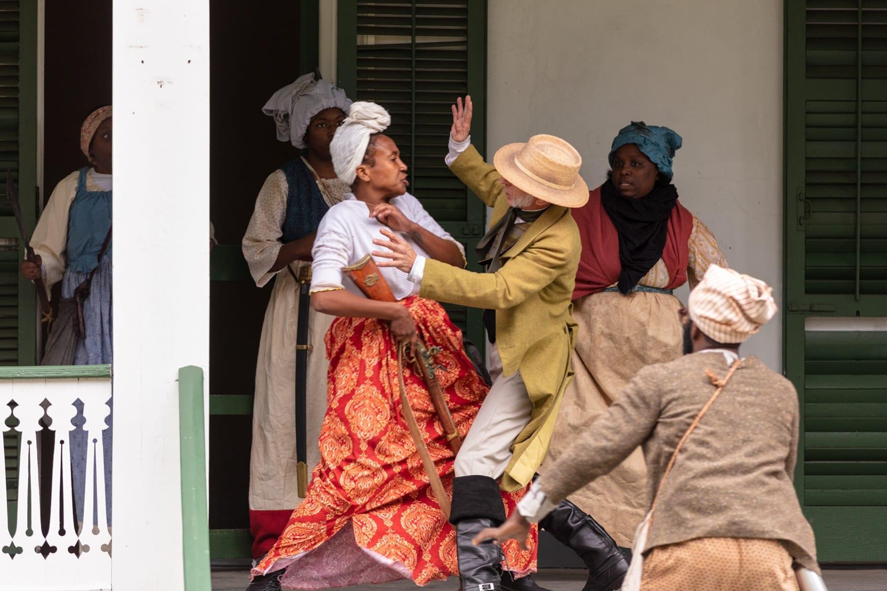 Dread Scott, Slave Rebellion Reenactment Performance Still 6, 2019