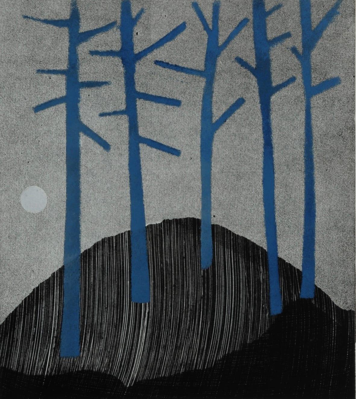 Nigel Swift, Five Blue Trees, 2020