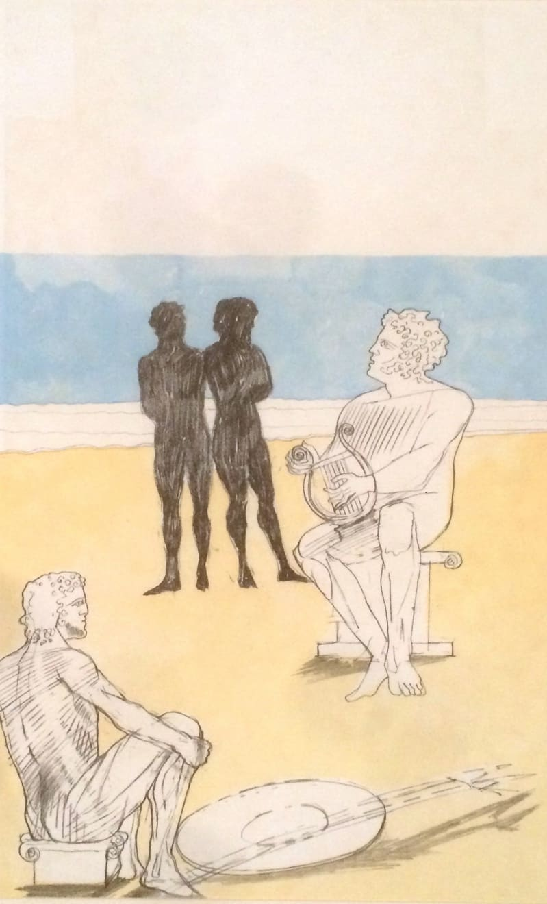 Summer Auction 2020, LOT 57 - Elisabeth Frink - 'Aias and Odysseus found Achilles beguiling the time with music', 1975