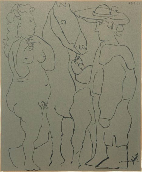 Pablo Picasso, Picador, Woman and Horse, 1962