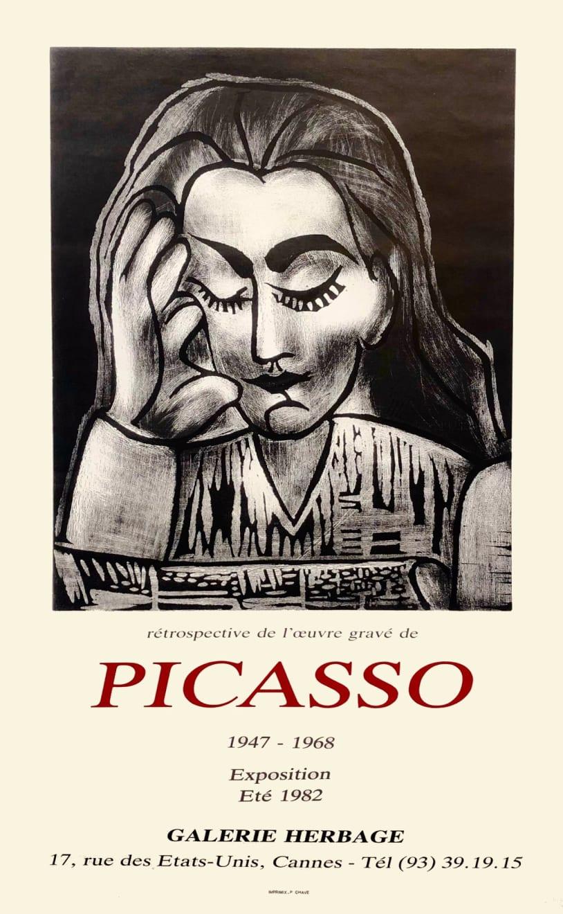 Pablo Picasso, Picasso 1947 - 1968 Exhibition Poster, 1982