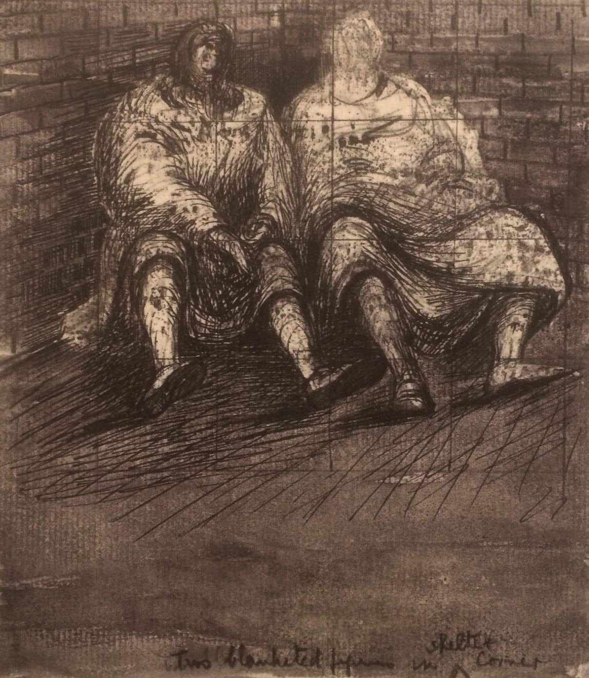 Henry Moore, Untitled XXXIX (Shelter Sketchbook), 1967