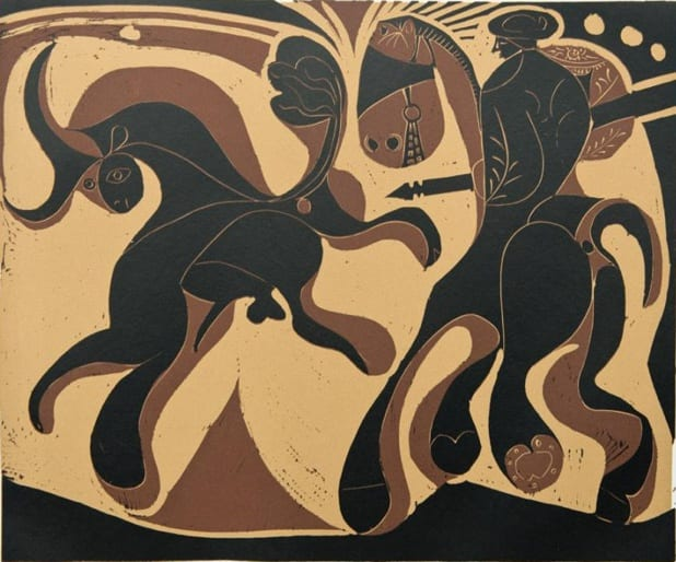 Pablo Picasso, Picador and Fleeing Bull, 1962