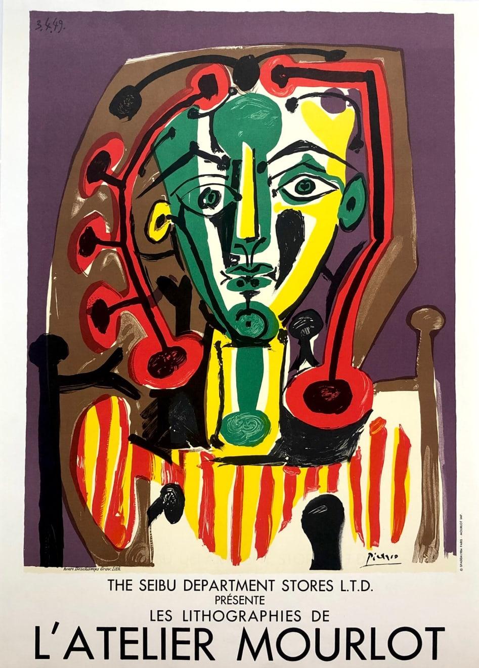 Pablo Picasso, 'Les Lithographies de l' Atelier Mourlot' Picasso Poster, 1984
