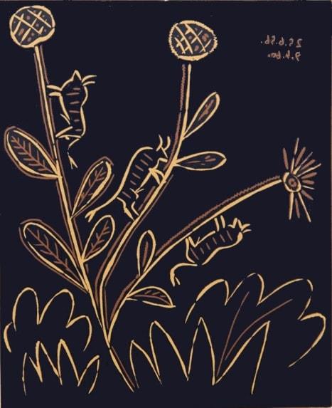 Pablo Picasso, Bull Flower, 1962