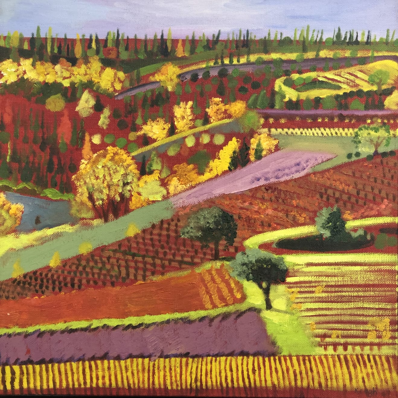 Karen Keogh, Vineyards, Corbieres