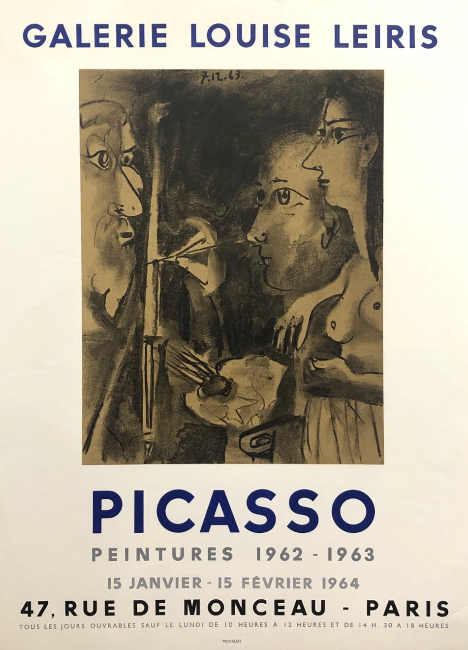 Pablo Picasso, Picasso Peintures 1962 - 1963 Exhibition Poster, 1964