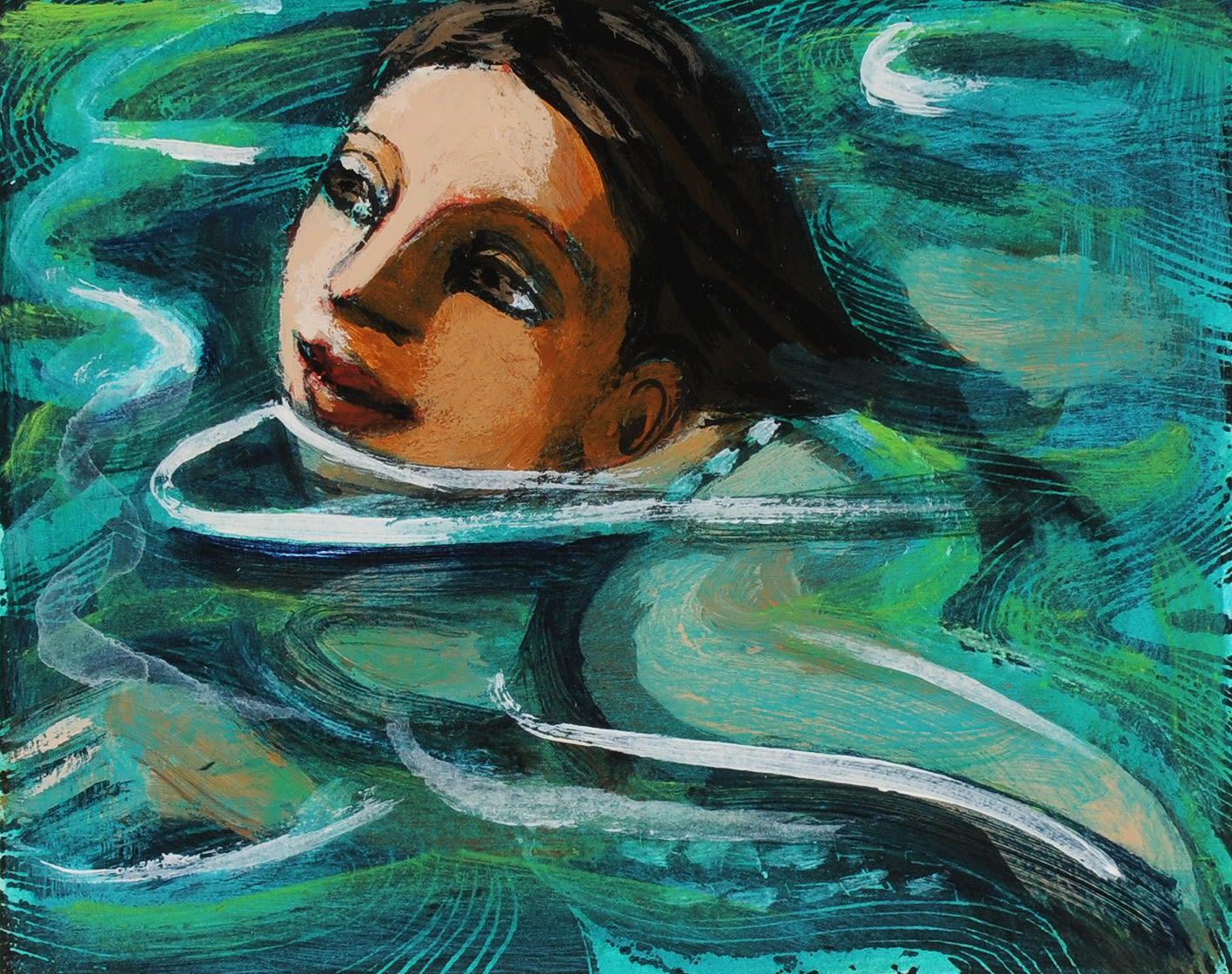 Anita Klein, Swimming in Cold Water II, 2020