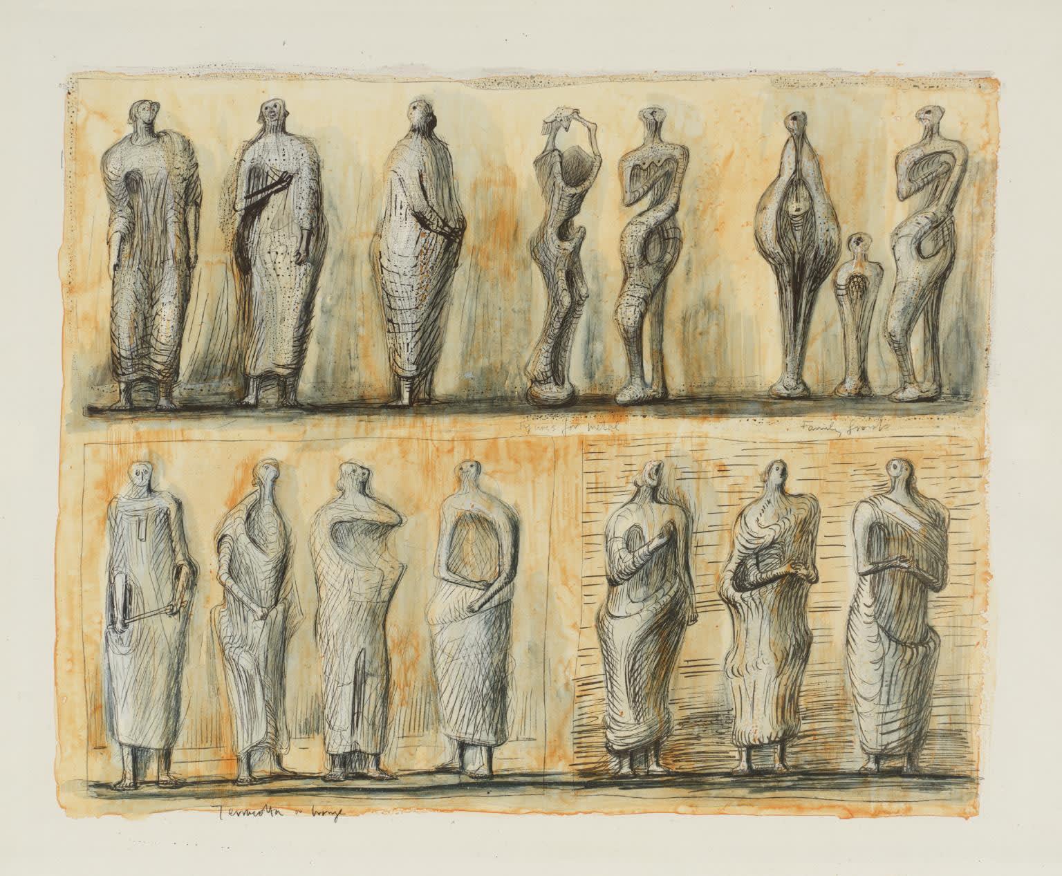 Henry Moore, Standing Figures, 1949