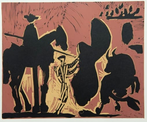 Pablo Picasso, Before the Goading of the Bull (large), 1962