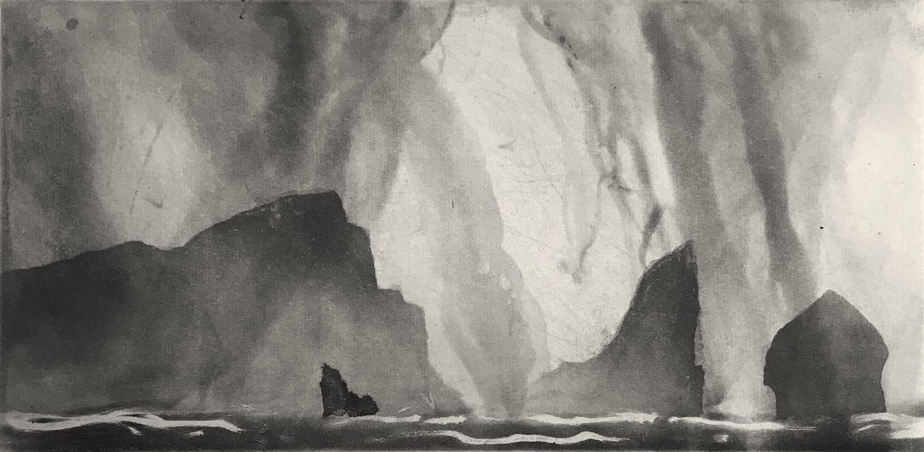 Norman Ackroyd, St. Kilda from the North, 2020