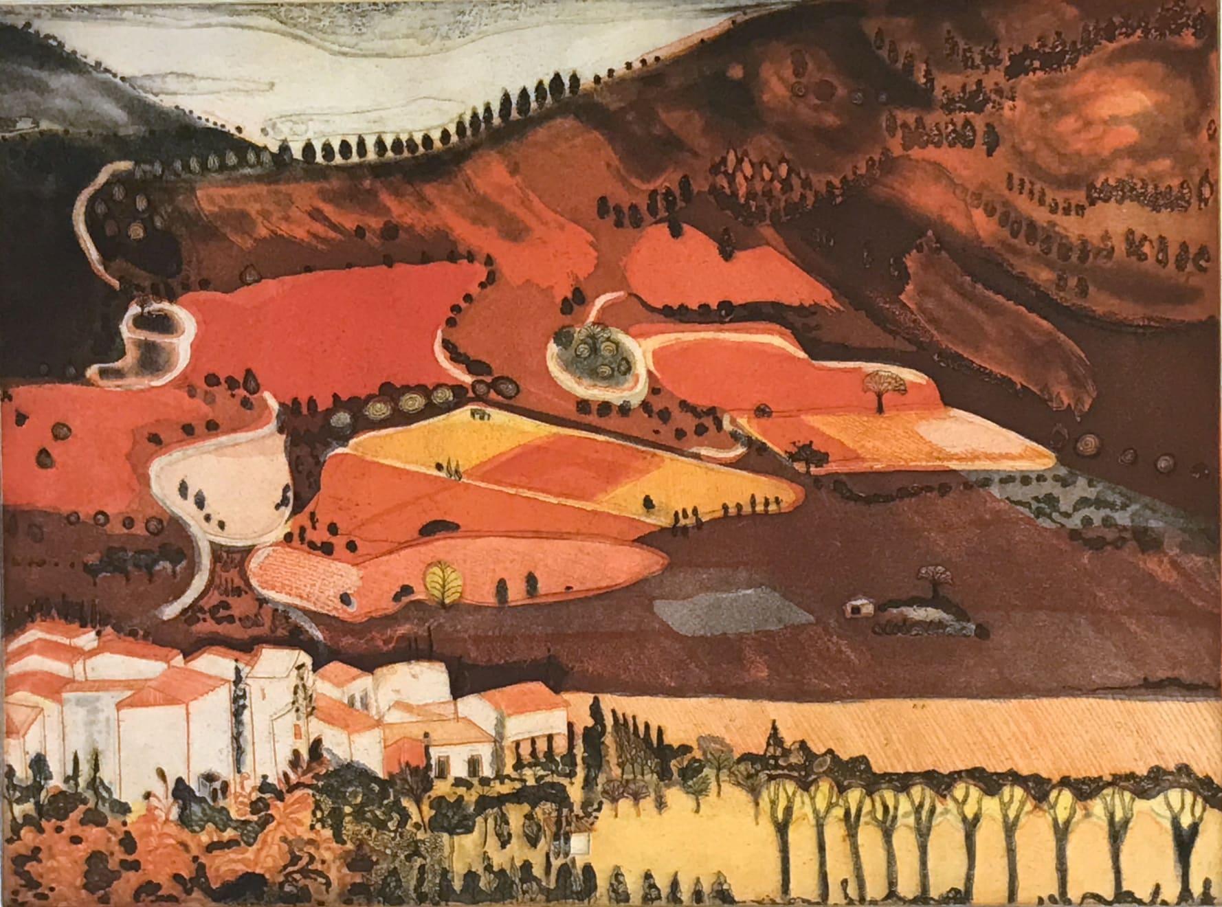 Karen Keogh, Vineyard Harvest, Corbieres, 2011