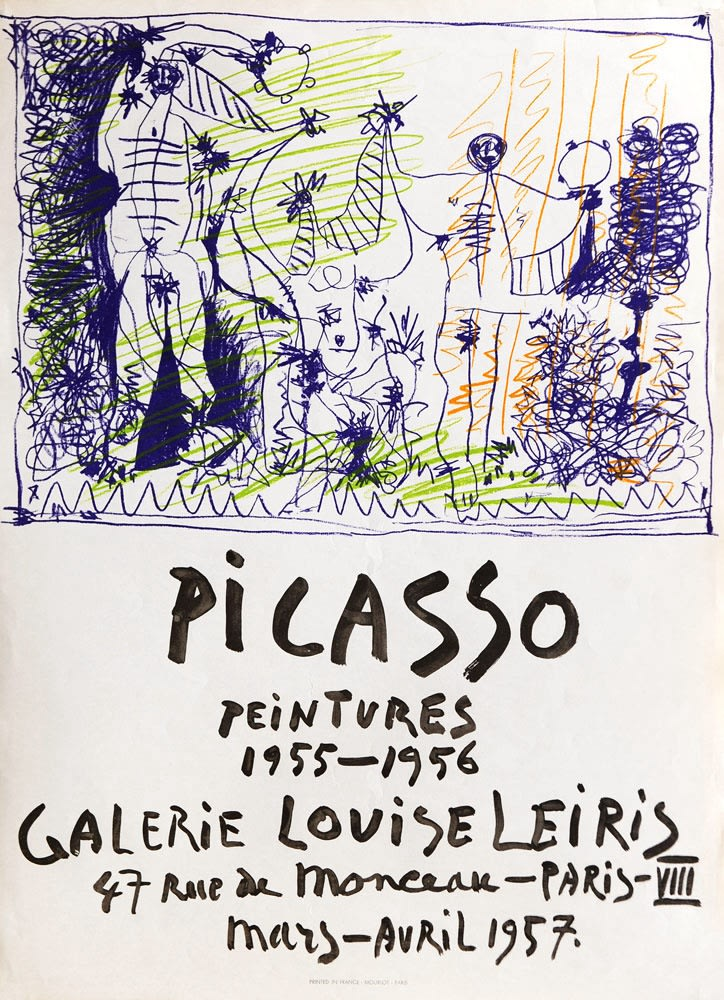 Pablo Picasso, 'Picasso Peintures 1955 - 1956' Exhibition Poster, 1957