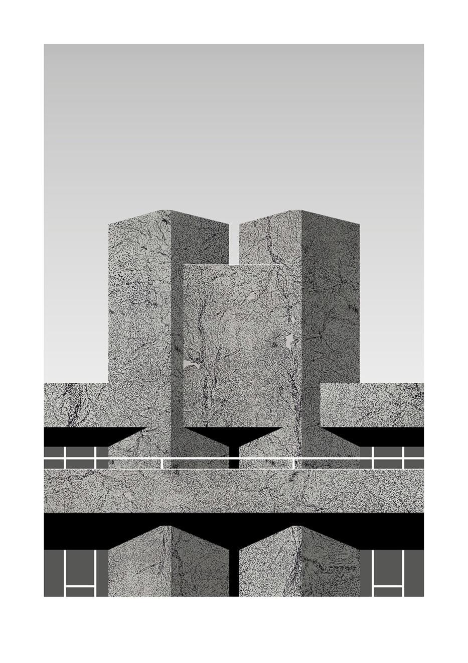 Hamish Macaulay, National Theatre '76 (Grey), 2018