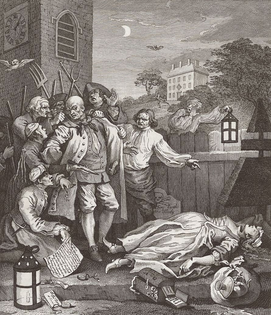 Summer Auction 2020, LOT 83 - William Hogarth - 'Cruelty in Perfection (The Four Stages of Cruelty)', 1735