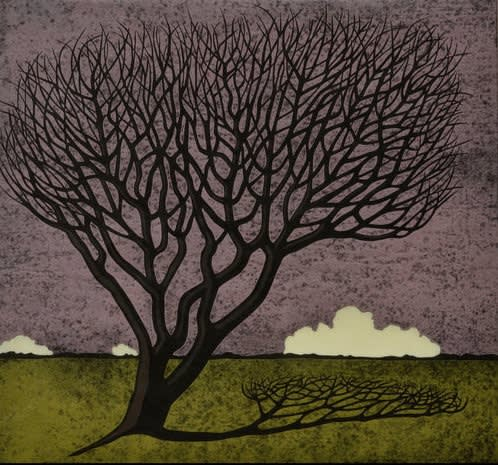 Paul Hogg, Landscape with Tree and Clouds, 2019
