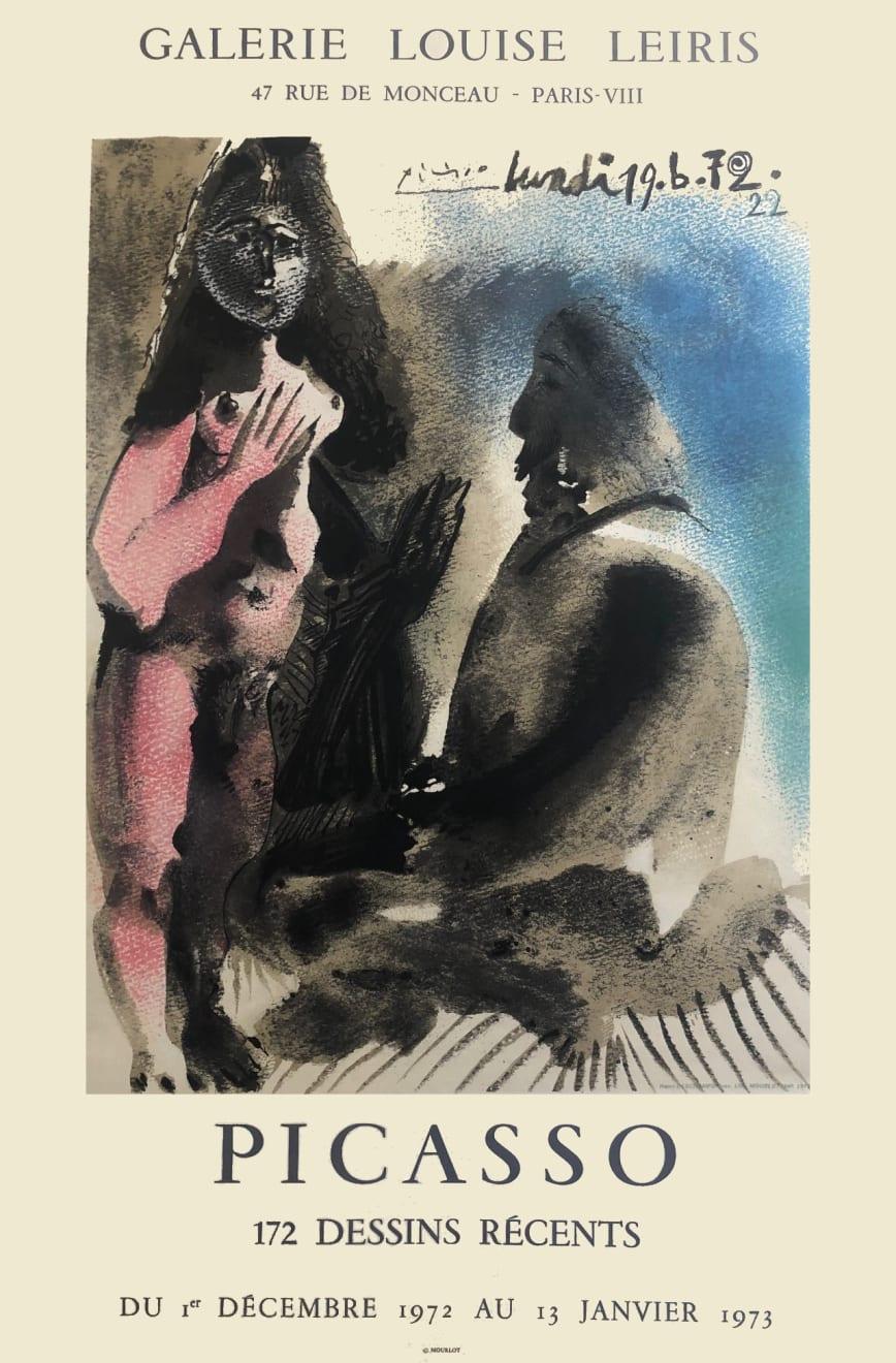 Pablo Picasso, '172 Dessins Récents' Picasso Poster, 1973