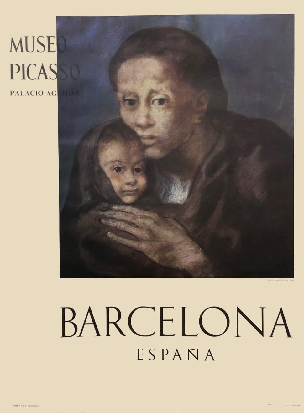 Pablo Picasso, Museo Picasso Barcelona Poster (Mère et enfant au fichu), 1966
